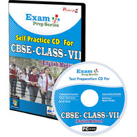 Exam Prep CD For  Class 7 - Maths, Science  English Combo