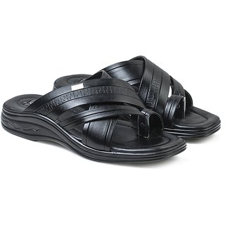 Action Shoes MenS Black Slipper