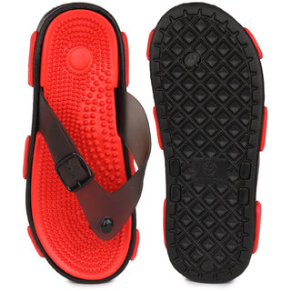 Action Men'S Black Slip On Sandals