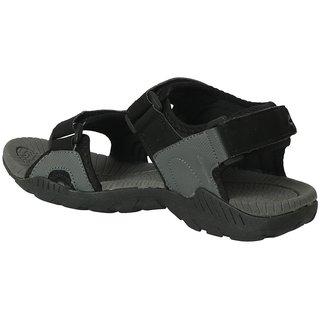 Action- Dotcom Men'S Grey Velcro Sandals