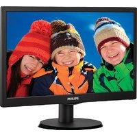 Philips 163V5LSB23/94 15.6 Inch LED Backlit LCD Monitor  (Black)