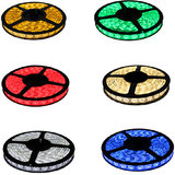 Pack Of 6 LED Strip Light (Red,Green,Blue,Yellow,Cool White,Warm White)