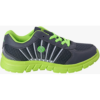 Action Shoes Women Grey And Green Sports Shoes