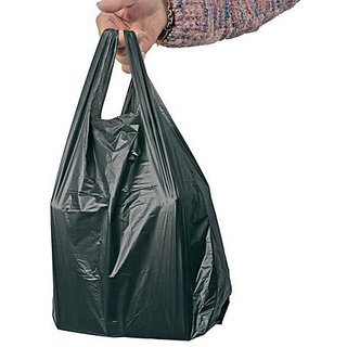 ELPH Black Polypropylene Dustbin Garbage Bag 20x26 (51x66 cms) - 40 Pieces