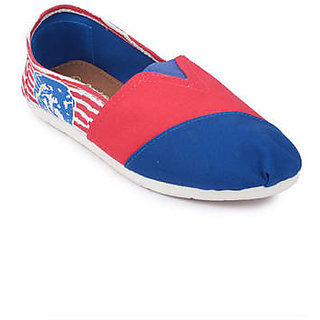 Action Women'S Blue Slip On Casual Shoe