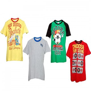 Little Stars Cotton PACK OF 4 Combo T-shirts For Boys By Little Stars