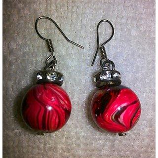 Fancy Round Ball Drop Earrings