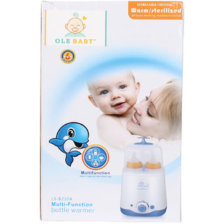 Ole Baby Dual bottle Electric Steam Sterlizer cum Food Warmer cum Heating(250 ml each)