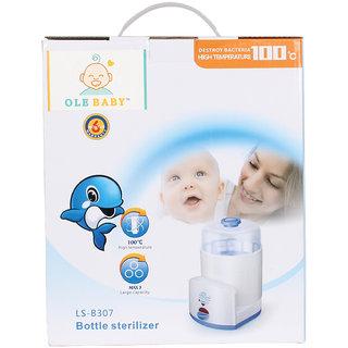 Ole Baby 3 bottle Electric Steam Sterlizer cum Food Warmer cum Heating(250 ml each)