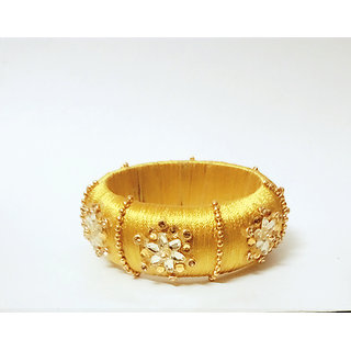 Gold colour Silk Thread silngle Bangle