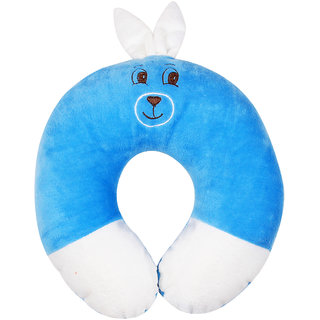 Ole Baby Cute Bunny Face Neck Support Pillow Childrens Neck Pillow Soft and Plush Pink 0-12 months