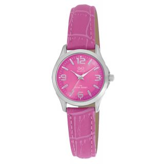 Q&Q C193J315Y Pink Color Stylish Watch