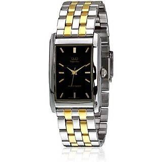 Q&Q Superior Collection Gold Silver Mix Party Wear Analog Watch