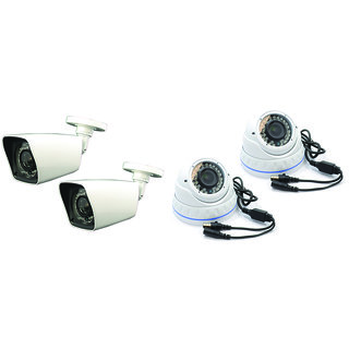 PACK OF FOUR 1 MP (720P) CAMERA ( 2 INDOOR+2 OUTDOOR)