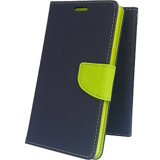 Wallet Mercury Flip Cover for LENOVO A2010  (BLUE)