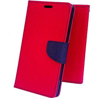 Wallet Mercury Flip Cover for Samsung Galaxy J7 (RED)