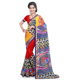 Karishma Georgette Multicolor Casual Saree