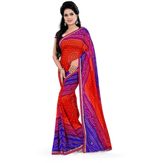 Karishma Synthetic Multicolor Casual Saree
