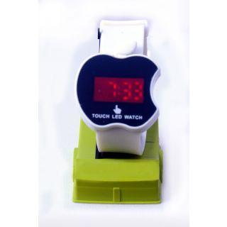 Led Digital Black Apple Dial Shape Watch for girl's