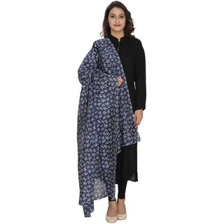LOOM LEGACY Blue Printed Women Duptta