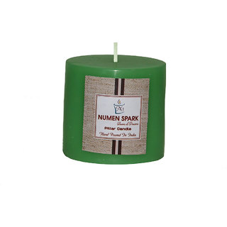 Numen Spark Cucumber Cantaloupe Scented Smooth Pillar Candle (3 inch X 3 inch)