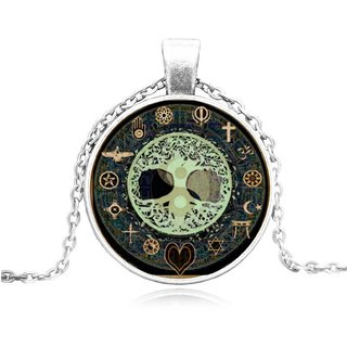 Unique designer Cabochon Glass alloy Pendant necklace
