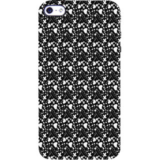 ifasho Modern Art Design Pattern with Lot Of small heart with + sign Back Case Cover for Apple iPhone 5