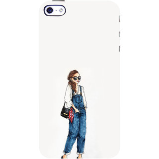 ifasho Girl in jeans Back Case Cover for Apple iPhone 5