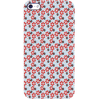 ifasho Animated Pattern colrful design flower with leaves Back Case Cover for Apple iPhone 5