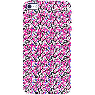 ifasho Modern Art Design Pattern with Lot Of alphabet Back Case Cover for Apple iPhone 5