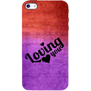 ifasho Loving you Back Case Cover for Apple iPhone 5
