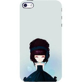 ifasho Cute Girl with Ribbon in Hair Back Case Cover for Apple iPhone 5