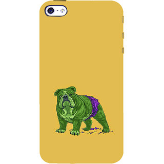 ifasho Animated Design Dog Back Case Cover for Apple iPhone 5