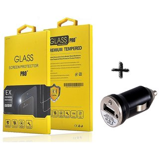 Tempered Glass Screen Protector For  Panasonic P75 With CAR ADAPTER