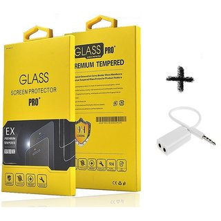 Tempered Glass Screen Protector For  Samsung Galaxy A8 With aux splitter