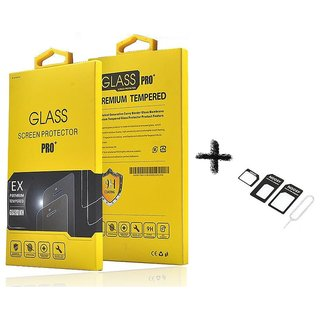 Tempered Glass Screen Protector For  Samsung Galaxy J1 Ace With 4 IN 1 Noosy SIM Card Adapter Kit