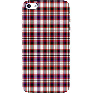 ifasho Colour Full Squre Pattern Back Case Cover for Apple iPhone 5