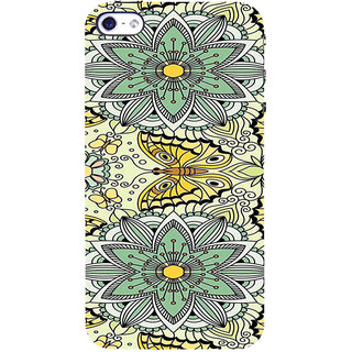 ifasho Animated Pattern colrful flower and butterfly Back Case Cover for Apple iPhone 5