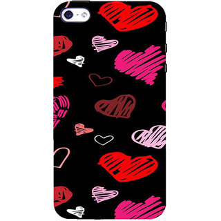 ifasho Animated Pattern With Love Back Case Cover for Apple iPhone 5