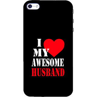ifasho I love my husband quotes Back Case Cover for Apple iPhone 5