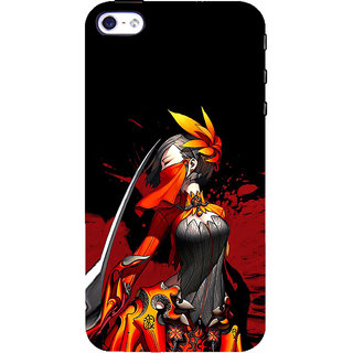 ifasho Colorful Girl animated Back Case Cover for Apple iPhone 5