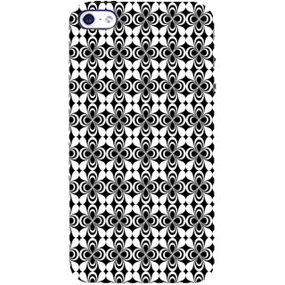 ifasho Animated Pattern design black and white flower in royal style Back Case Cover for Apple iPhone 5