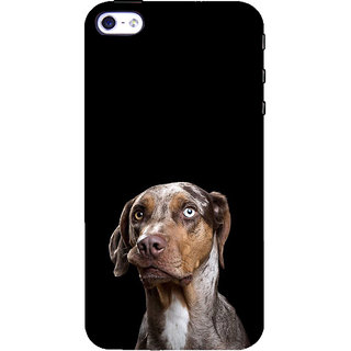 ifasho black Dog Back Case Cover for Apple iPhone 5