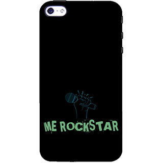 ifasho me rock star quote Back Case Cover for Apple iPhone 5