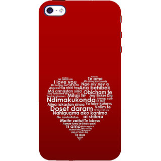 ifasho Love Quotes I love you Back Case Cover for Apple iPhone 5