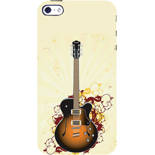 ifasho Modern Art Design Pattern Music Instrument Guitar Back Case Cover for Apple iPhone 5