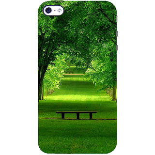 ifasho Green grass road with trees on the two side Back Case Cover for Apple iPhone 5