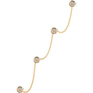 Tripin Unique Shape Golden Colour Kurta Buttons With Chain