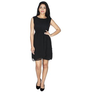 Ticsa Black Georgette Dress