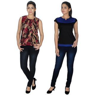 Ticsa Multicolor Georgette-Lycra Viscose Top